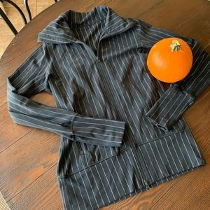 Lululemon Black/White Striped Stride Jacket